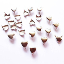 6 millimetri Nickle Heart-Shaped Studs, piccolo cuore Nailhead