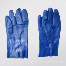 Gant en PVC à finition lisse à triple plis bleus-5131