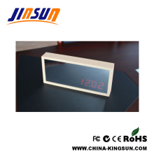 Homeware Mirror With Clotck Red Led Light