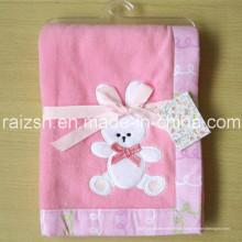 Cobertor de lã Baby Pink Bunny Blanket para atacado