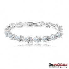 Heart Shaped Zircon Chain Bracelet Fashion (CBR0017-B)