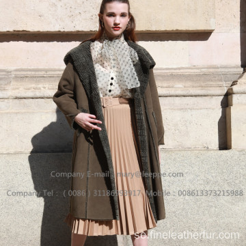 Reversibel Shearling Coat For Lady
