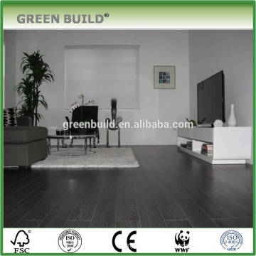 Plancher en bois laminé à la main gris foncé