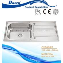 Mopp Waschbecken Einzel Schüssel Küche Arbeitsplatte Anti Rost Stand Waschbecken