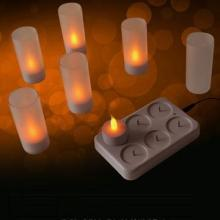 Candela di tealight LED ricaricabile plug-in