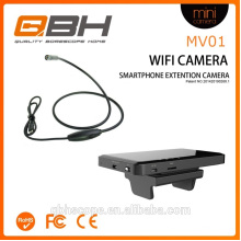 Vidéo-conférence, smartphone, inspection, appareil photo, serpent, appareil-photo