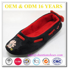 Hot selling cartoon embroidered brand alibaba shoes