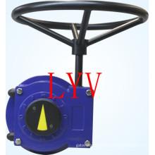 Caixa de engrenagens sem-fim operada por atuador de válvula
