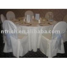 mantel 100% del poliester, cubierta de tabla de banquete/Hotel, ropa de mesa