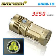 Maxtoch номер SN6X-15 3*Кри T6 3250 Люмен бронзовый мощный большой Факел