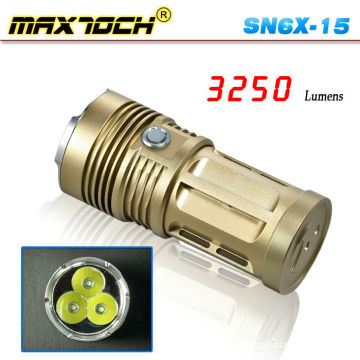 Maxtoch SN6X-15 3*Cree T6 3250 Lumen Bronze Powerful Big Torch