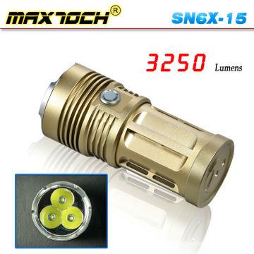Maxtoch SN6X-15 3 * Cree T6 3250 lúmen bronze poderoso grande tocha