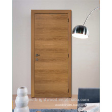 Room interior oak wood single doors