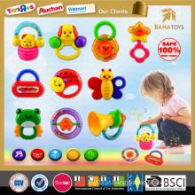 Promoção grande! 2015 Chocalho do bebê 10 PCS brinquedo plástico novo do chocalho do bebê