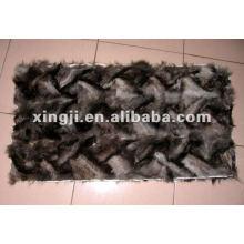 silver fox leg fur plate