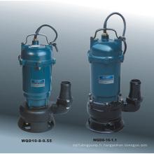 Pompe à eaux usées submersible (série WQD)