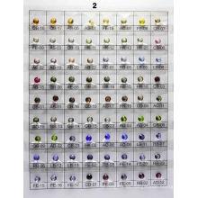 Tabla de colores de vidrio A2