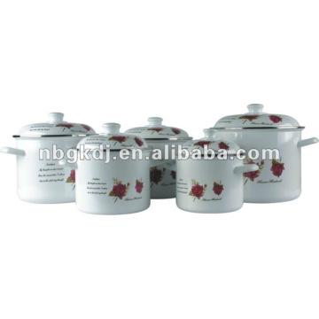 enamel high pot with bakelite handle and knob