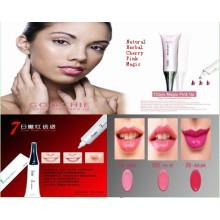 Gloss à lèvres imperméable à l'eau-7 jours Magic Pink up Lip Gloss / Lip Stick (ZX)