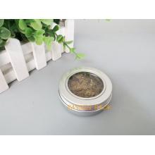 2oz Canhão de alumínio do chá com a tampa do parafuso da janela do animal de estimação (PPC-ATC-60)