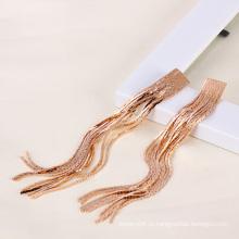 Xuping розового золота цвета длинный цепной моды серьги (23469)
