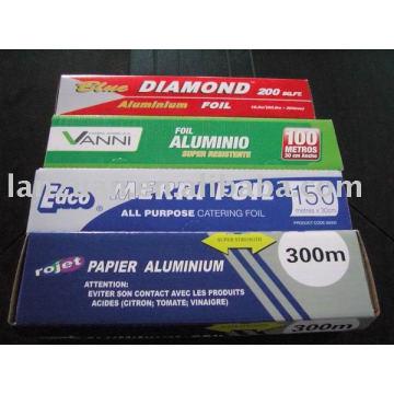 rollo de papel de aluminio