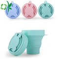 Retractable Folding Silicone Cute Outdoor Sports FDA Cup