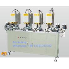 Máquina de sujeción de tornillo de cuatro cabezas de ventana UPVC