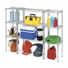 Adjustable Light Duty Metal Garage Storage Shelving System, NSF Approval
