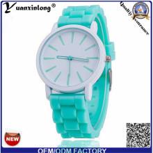 Yxl-346 Hot Sale Candy Color Jelly Silicone Watches Geneva Child Student Simple Design Quartz Bracelet Watch