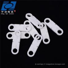 Base en céramique blanche d'alumine de fournisseur d'usine