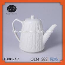 Pote de chá chinês em relevo
