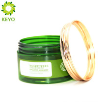 Plastic jar with gold cap face care cream cosmetic packaging with metal cap