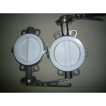Full PTFE Coated Wafer Type Butterfly Valve
