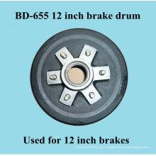 Tambor de freio BD-655 para freios de 12 polegadas