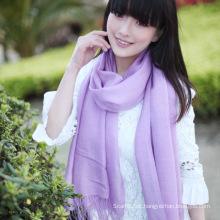 Moda 50% lã e 50% de lenço sólido de bambu (13-BR010119-1.6)