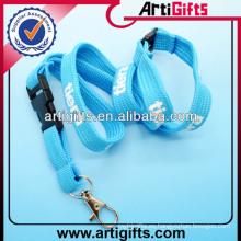 2013 cuerdas de cuello de logotipo personalizado impreso para llaves