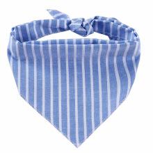 Pañuelo de moda a rayas de algodón personalizado ecológico para mascotas