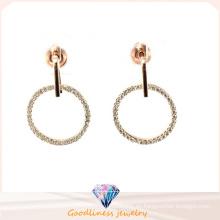 Buena calidad y nuevos pendientes redondos lleno de diamantes de imitación círculo pendientes pendientes para las mujeres (e6369)