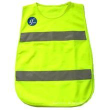 Kinder reflektierende Streifen Polyester hohe Sichtbarkeit Sicherheit Sicherheitsweste (YKY2852)