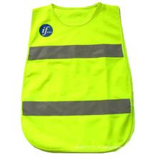 Дети светоотражающую полоску полиэстер высокая видимость безопасности жилет безопасности (YKY2852)