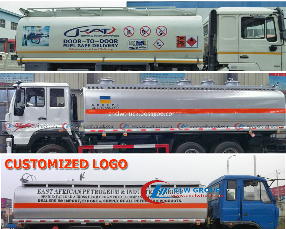 fuel tank truck customized logo