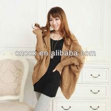 12STC0665 бат-крыло рукавом женщин вязаный свитер пончо