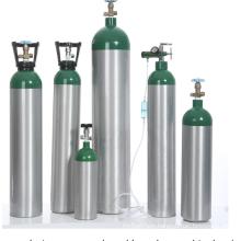 Aluminum Portable Medical Oxygen Gas Cylinder