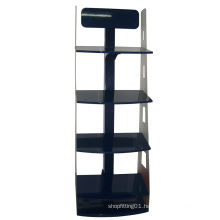 Acrylic Tier Island Free Standing Flooring Display Rack Shelves