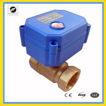 Actionneur de commande électrique de soupape d'arrêt d'eau de 2 manières en laiton 230v