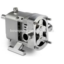 Stainless steel electric horizontal or vertical acid resistant sanitary lobe pumps with self priming