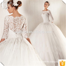Custom Made Charming Long Sleeve Formal Beach Wedding Dress Lace Applique Robe De Mariage Online Shopping China