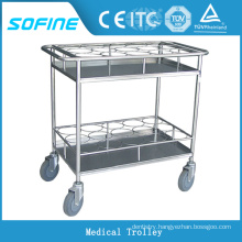 SF-HW5712 stainless steel hospital bottle trolley