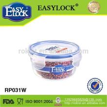 armazenamento do alimento do easylock, bacia plástica empilhável hermética